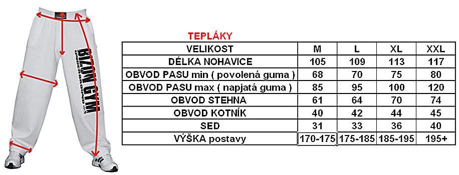 FITNESS TEPLÁKY ZNAČKY BIZON GYM dcea492a32