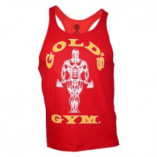 Better Bodies – Gold's Gym Tílko Muscle Joe Premium Stringer Červené