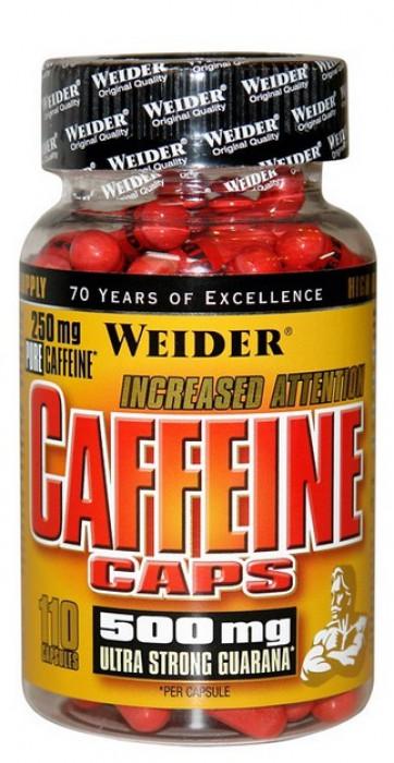 Výsledek obrázku pro Weider Caffeine Caps 110 kapslí
