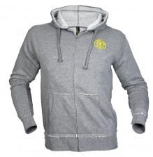 – Gold´s Gym Mikina Frayed Zip šedá