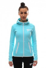Dámské mikiny – Physiq Apparel Perform Lite Fitted Hoodie Sky Blue