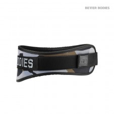 Rukavice a Pásy – Better Bodies Nylonový Pás Camo Gym Belt Green Camo Print