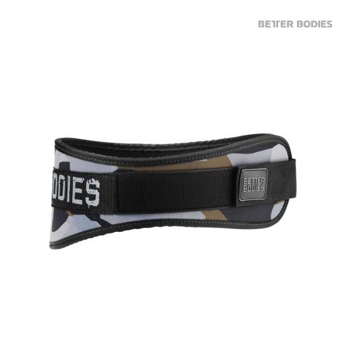 Better Bodies Nylonový Pás Camo Gym Belt Green Camo Print
