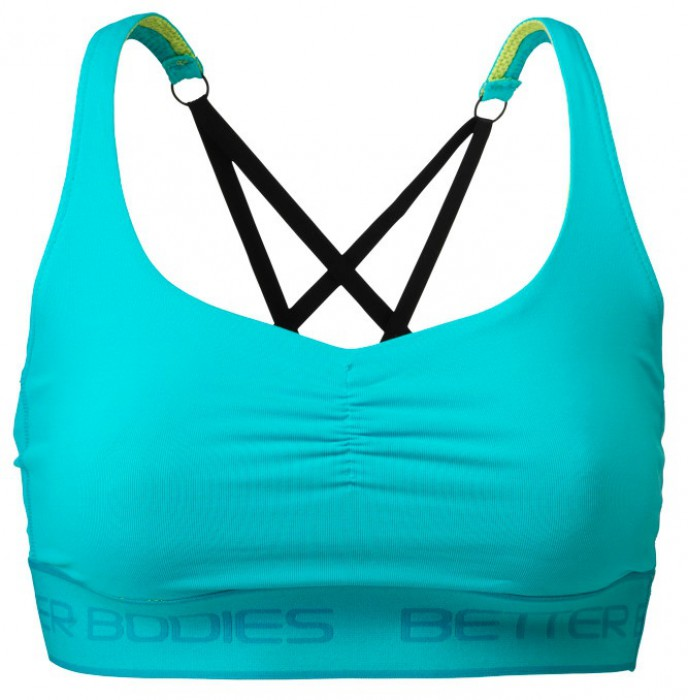 Better Bodies Dámský Top Athlete Short Top Aqua Blue