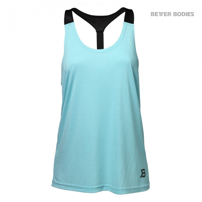 Better Bodies Dámské Tílko Loose Fit Tank Light Aqua