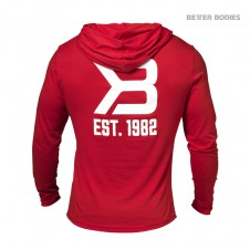 BIZON GYM – Better Bodies Pánská Mikina Soft Hoodie Bright Red