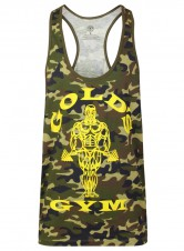 Better Bodies – Gold's Gym Pánské Tílko Muscle Joe Slogan Premium Tank Green Camo