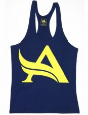 BIZON GYM – Aesthetix Era Stringer Navy Yellow