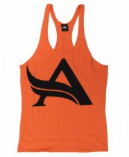 BIZON GYM – Aesthetix Era Stringer Orange Black