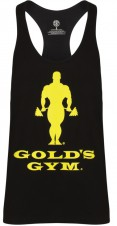 BIZON GYM – Gold's Gym Pánské Tílko Muscle Joe Slogan Premium Tank Burgundy