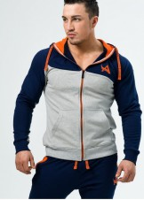 BIZON GYM – Aesthetix Era Mikina Hoodie Gray - Orange
