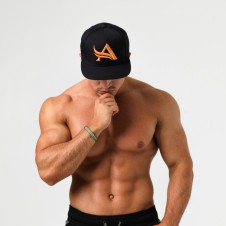 Gold's Gym. – Aesthetix Era Kšiltovka Snapback Black Orange