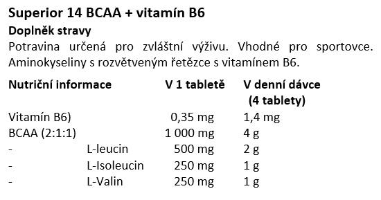 Superior 14 BCAA + B6 400 tablet