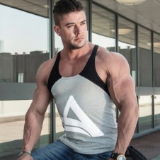 BIZON GYM – Aesthetix Era Stringer Carbon Gray White