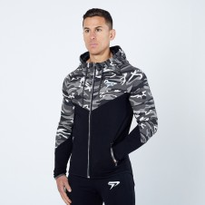 BIZON GYM – Physiq PerformLite Camo Hoodie - Arctic
