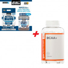 Náš tip – App.Nut. Critical Mass Gainer 6kg + Whey 450g + GN BCAA 180ct